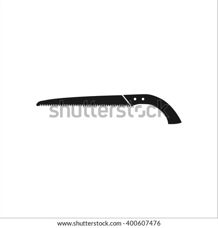 Garden Hand Saw Sign Black Simple Icon On Background