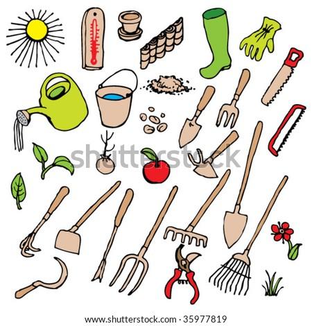garden tool - stock vector