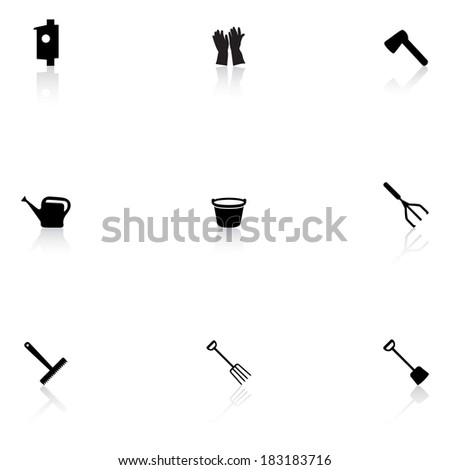 Garden tools - stock vector