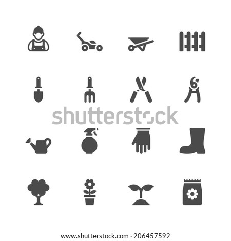 Gardening icons - stock vector