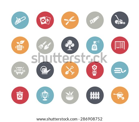Gardening Icons // Classics Series - stock vector