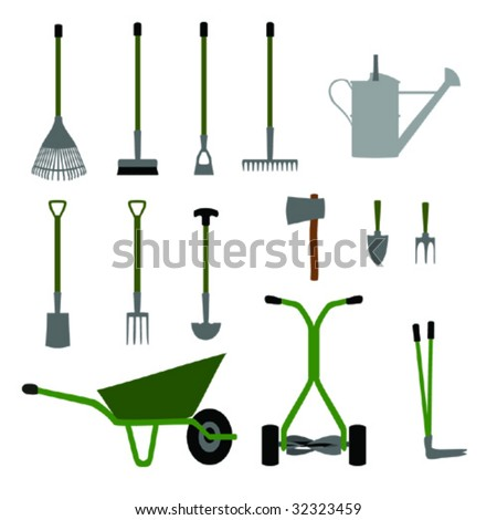 Gardening tools and equipment Set No.1.