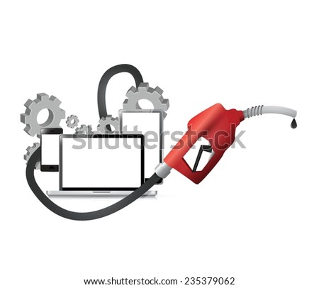 gas and industrial oil concept illustration design over a white background - stock vector