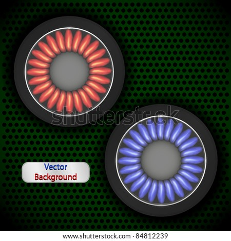 Gas background for your design. Vector illustration
