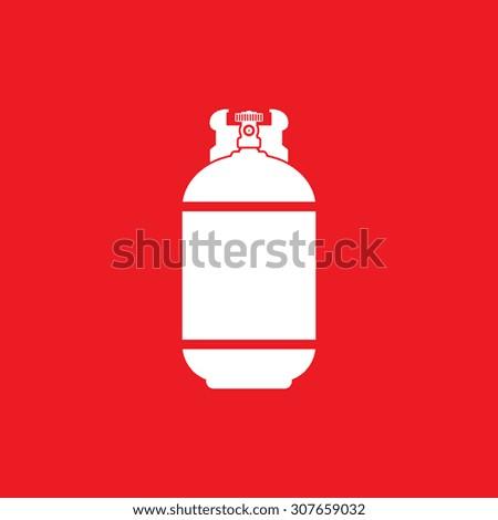 Gas bottle icon - Vector - stock vector