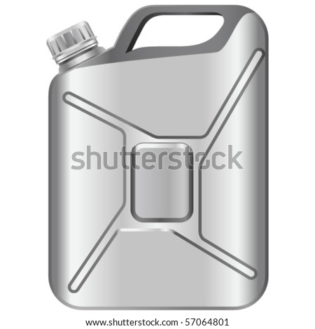 gas can - vector illustration - stock vector