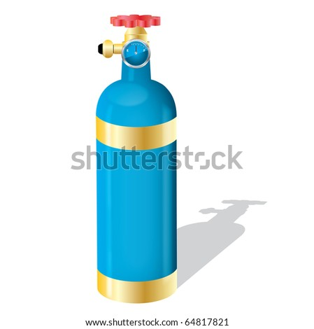 Gas cylinder on a isolated background,vector - stock vector