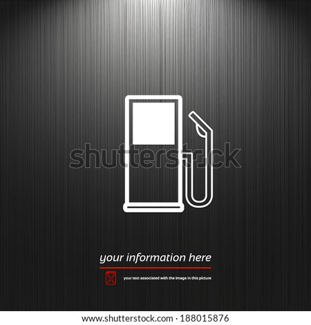 Gas, fuel station icon isolated on a dark texture background with light for your design - stock vector