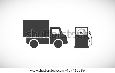 gas fuel station with car icon - stock vector