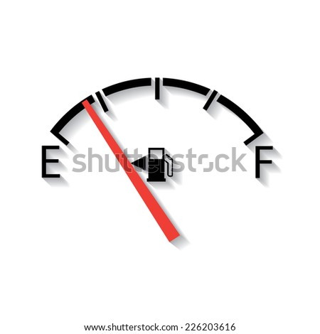 Gas gage, in flat design - stock vector