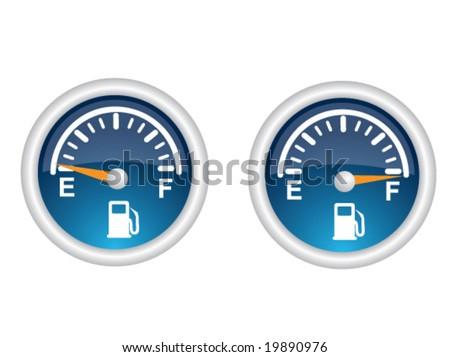 Gas Gauge - stock vector