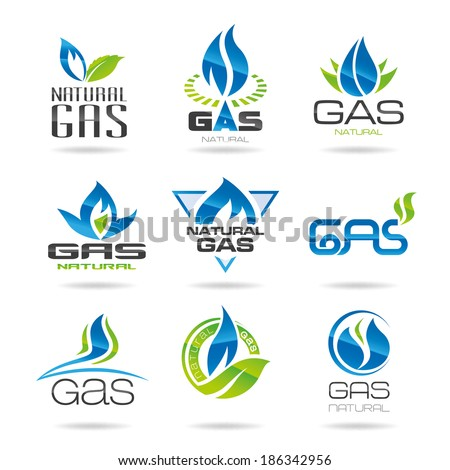 Gas industry symbols-icon