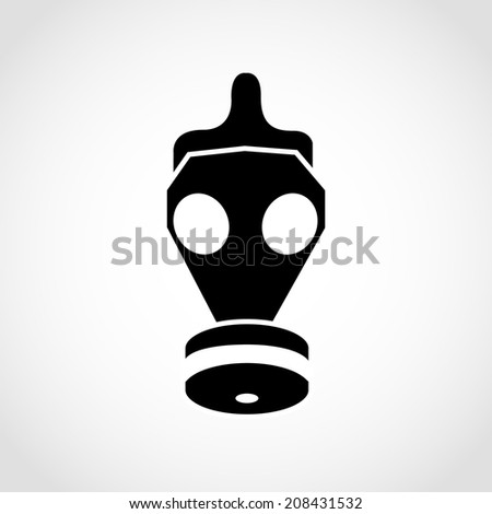 Gas mask Icon Isolated on White Background - stock vector