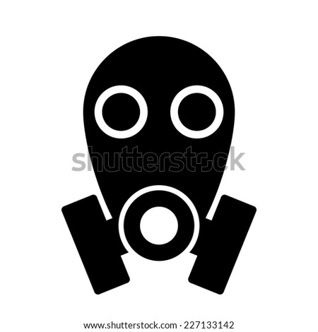 Gas mask icon on white background. Vector illustration. - stock vector