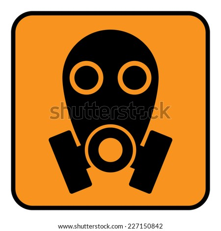 Gas mask sign on white background. Vector illustration. - stock vector