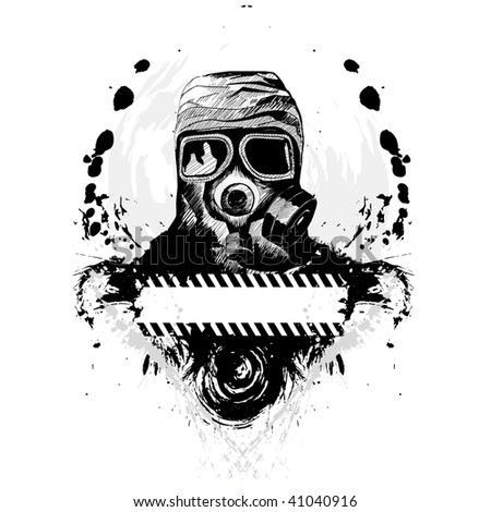 Gas Mask Vector Illustration - stock vector
