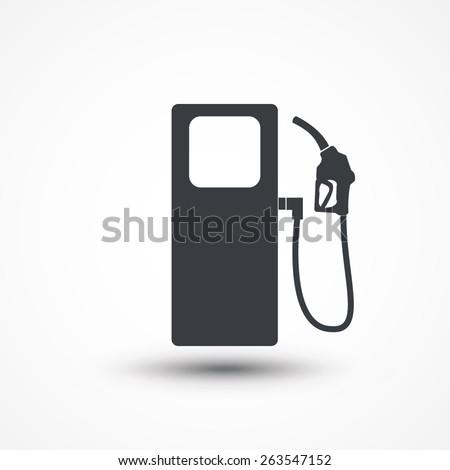 Gas pump icon. - stock vector