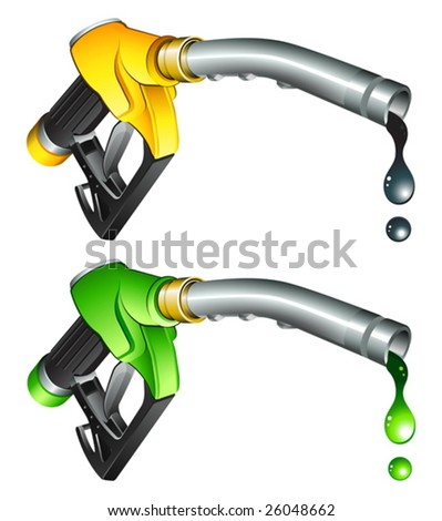 gas pump nozzle - stock vector