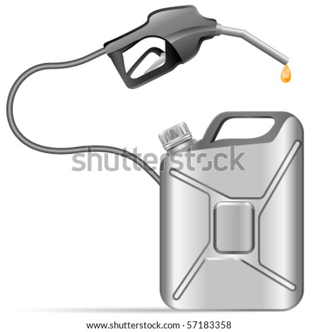 gas pump nozzle and gas can - vector illustration