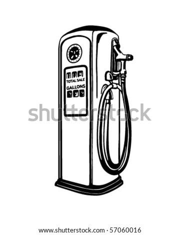 Gas Pump - Retro Clip Art - stock vector