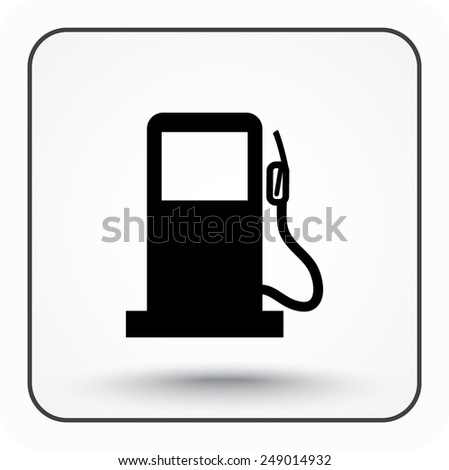 Gas pump sign icon, vector illustration. Flat design style - stock vector