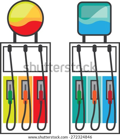 Gas Pump vector color  - stock vector