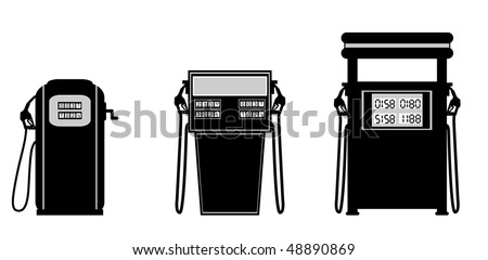 gas pump vector illustration (numbers on the pump can be seen in actual vector) - stock vector