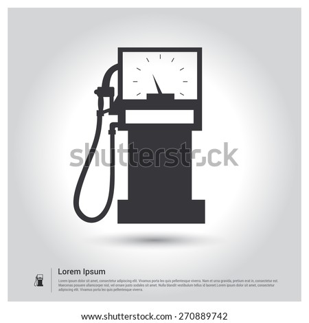 gas station, Fuel Station Icon, Vector illustration for web, site, mobile application. Simple flat metro design style. Outline Icon. Flat design style - stock vector
