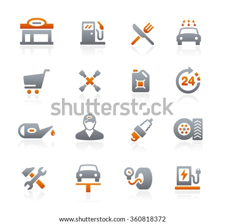 Gas Station // Graphite Series - stock vector