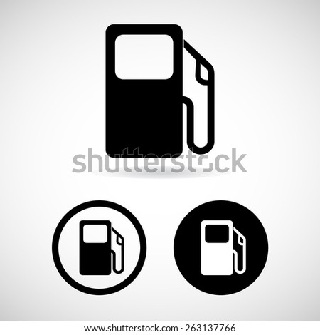 gas station icon great for any use. Vector EPS10. - stock vector