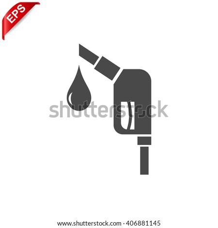Gas Station Icon Vector Gas Pump Stock Vector 406881145 Shutterstock