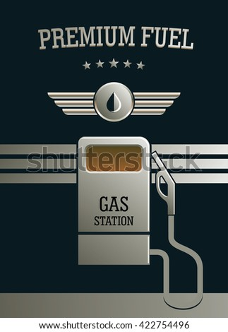 Gas station pump. Premium fuel and high-quality service concept. - stock vector