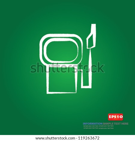 Gas station sign,Vector - stock vector