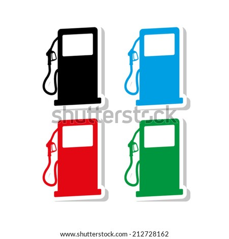 gas station sign - vector - stock vector
