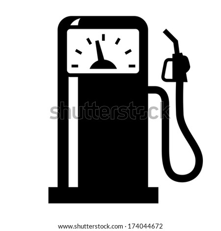 gas station simple icon - stock vector
