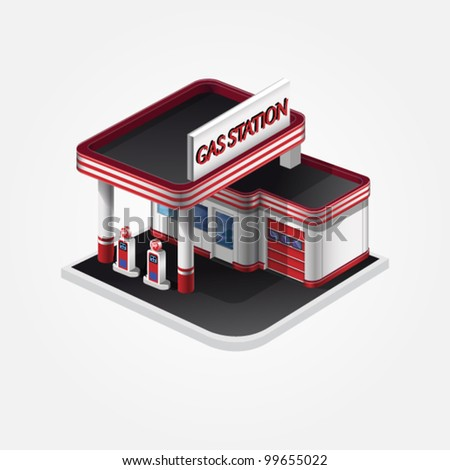 Gas station vector eps10 - stock vector