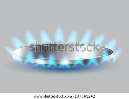 Gas stove burner illustration, Vector - stock vector