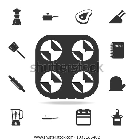 Gas Stove Icon Set Chef Kitchen Stock Vector Hd Royalty Free