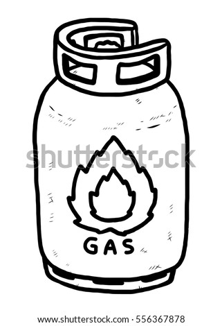 gas stove clipart black and white. gas tank / cartoon vector and illustration, black white, hand drawn, sketch stove clipart white