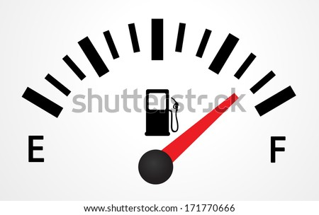 Gas Tank Illustration - stock vector