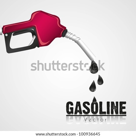gasoline dispenser leaking, isolated on white background