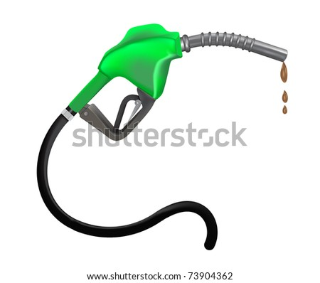 Gasoline nozzle vector illustration - stock vector