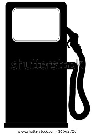 Gasoline pump vector. - stock vector