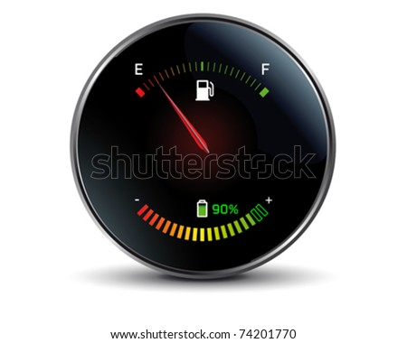 Gasoline versus electricity - stock vector