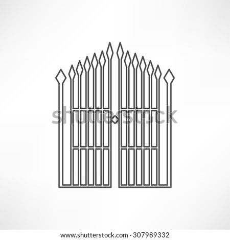 gate icon - stock vector