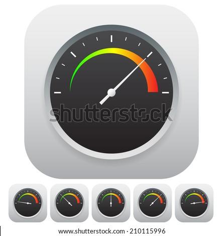 Gauge icon set - stock vector