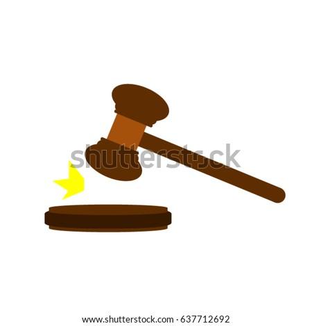 gavel clipart gavel auction hammer stock vector 637712692 shutterstock rh shutterstock com auction gavel vector gavel vector png