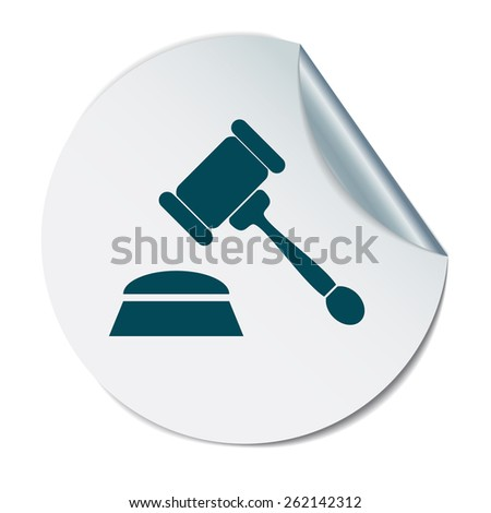 gavel . icon law. symbol of justice and judgment. - stock vector
