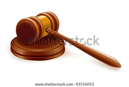 Gavel, mesh - stock vector