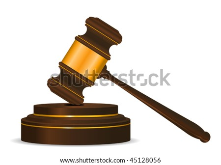 Gavel symbol as a concept of law or auction. Jpeg version is also available - stock vector